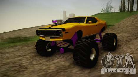 AMC Javelin AMX 401 1971 Monster Truck для GTA San Andreas вид сзади слева