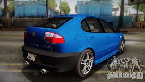 Seat León Cupra R Series I Typ 1M Tunable для GTA San Andreas колёса