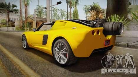 GTA 5 Coil Rocket Voltic для GTA San Andreas вид слева