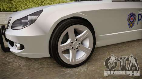 Mercedes-Benz CLS 500 Turkish Police для GTA San Andreas вид сзади