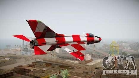 MIG-21 Kockica для GTA San Andreas вид слева