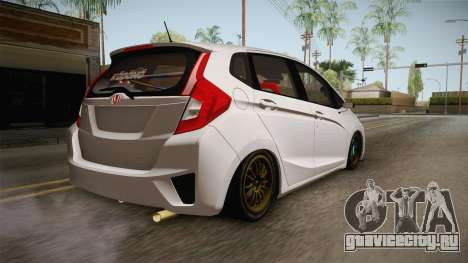 Honda Jazz GK 2014 для GTA San Andreas вид слева