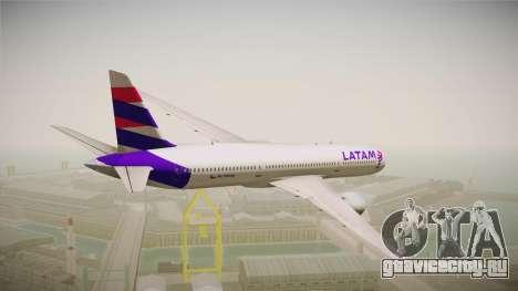 Boeing 787 LATAM для GTA San Andreas вид справа