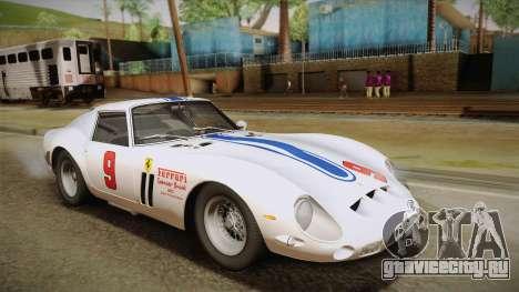 Ferrari 250 GTO (Series I) 1962 HQLM PJ1 для GTA San Andreas вид снизу