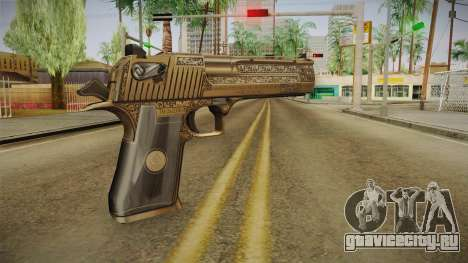 Desert Eagle 50 AE Gold для GTA San Andreas второй скриншот