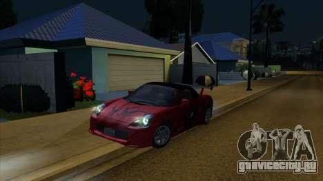 2004 Toyota MR-S Mk.III для GTA San Andreas вид сбоку