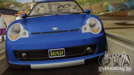 GTA 5 Weeny Issi Countryboy Cabriolet для GTA San Andreas вид справа