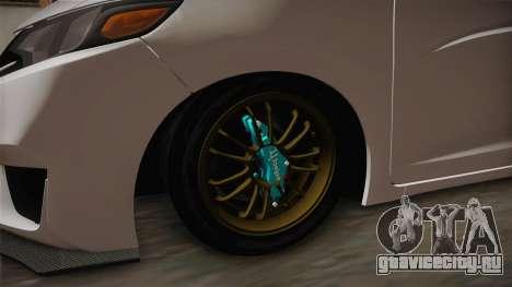 Honda Jazz GK 2014 для GTA San Andreas вид сзади
