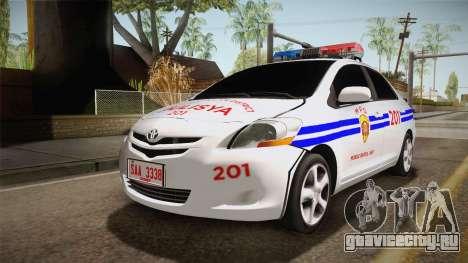 Toyota Vios Philippine Police для GTA San Andreas