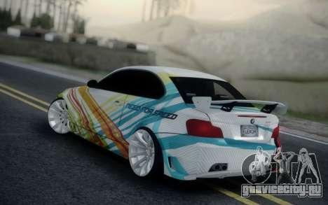 BMW 135i E82 Coupe для GTA San Andreas вид слева