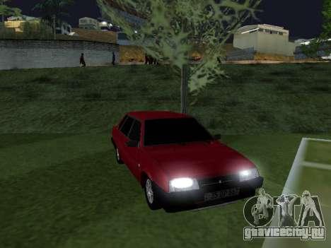 VAZ 21099 Armenian для GTA San Andreas вид справа