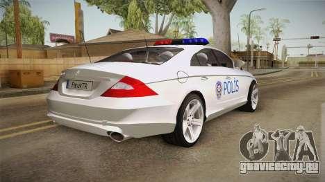 Mercedes-Benz CLS 500 Turkish Police для GTA San Andreas вид слева