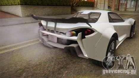 GTA 5 Progen Itali GTB Custom IVF для GTA San Andreas вид сбоку