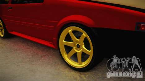 Toyota Corolla GT-S Drift для GTA San Andreas вид сзади