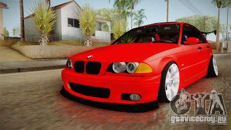 BMW 3 Series E46 CamberKinG для GTA San Andreas вид справа