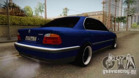 BMW 730d E38 для GTA San Andreas вид сзади слева