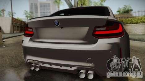 BMW M2 2017 для GTA San Andreas вид изнутри