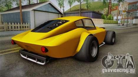 GTA 5 Invetero Coquette Custom для GTA San Andreas вид сзади слева