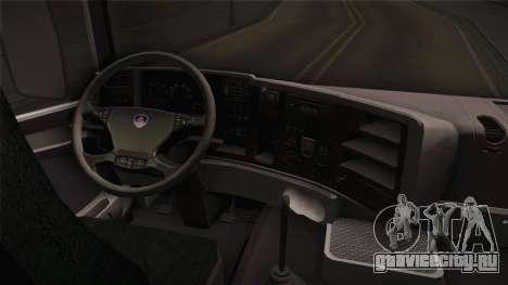 Scania R620 Eskrem Gerrok для GTA San Andreas вид изнутри