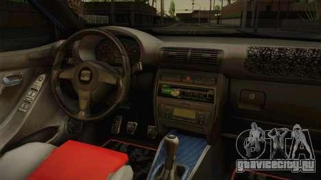Seat Leon 1.9 TDI для GTA San Andreas вид изнутри