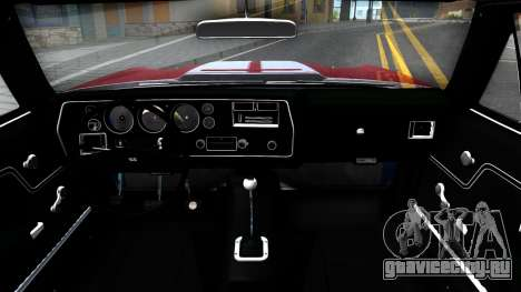 Chevrolet El Camino SS для GTA San Andreas вид изнутри