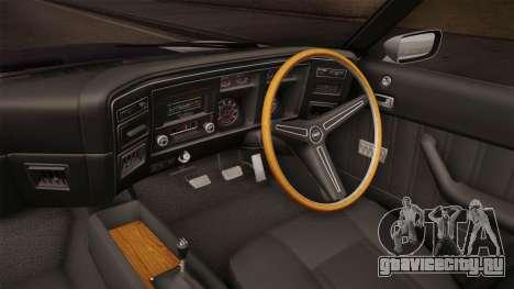 Ford Falcon 351 GT AU-spec (XB) 1973 IVF для GTA San Andreas вид изнутри