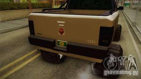 GTA 5 Bison 4x4 для GTA San Andreas вид изнутри