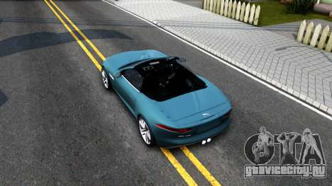 Jaguar F-Type для GTA San Andreas вид сзади