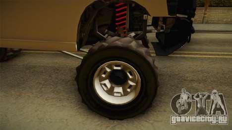 GTA 5 Bison 4x4 для GTA San Andreas вид сзади