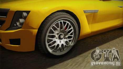 GTA 5 Albany Alpha Sedan для GTA San Andreas вид сзади