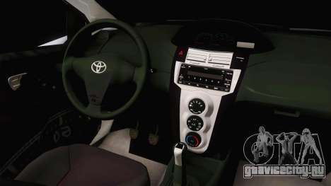 Toyota Vios Philippine Police для GTA San Andreas вид изнутри
