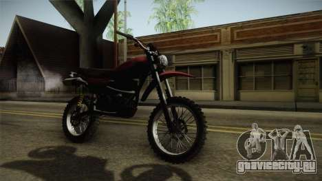 GTA 5 Dinka Enduro для GTA San Andreas вид справа