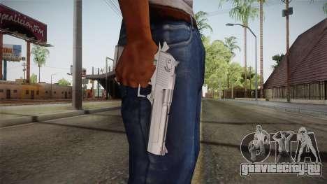 Desert Eagle 50 AE Silver для GTA San Andreas третий скриншот