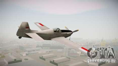Rustler Indonesian Air Force v2 для GTA San Andreas вид слева