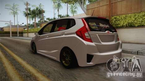 Honda Jazz GK 2014 для GTA San Andreas вид сзади слева
