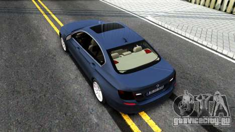 BMW 520d F10 2012 для GTA San Andreas вид сзади