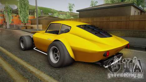 GTA 5 Invetero Coquette Custom для GTA San Andreas вид слева