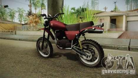 GTA 5 Dinka Enduro для GTA San Andreas вид слева