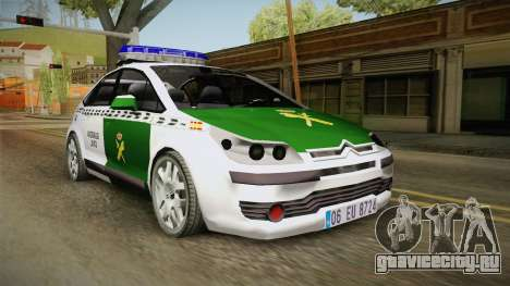 Citroen C4 Guardia Civil для GTA San Andreas