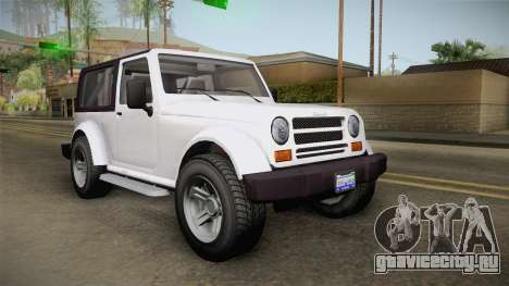 GTA 5 Canis Mesa SWB для GTA San Andreas вид сзади слева