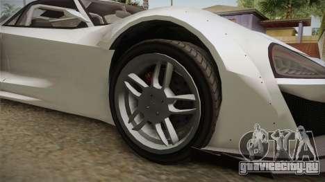 GTA 5 Progen Itali GTB Custom IVF для GTA San Andreas вид сзади