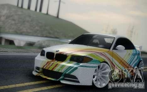 BMW 135i E82 Coupe для GTA San Andreas вид справа