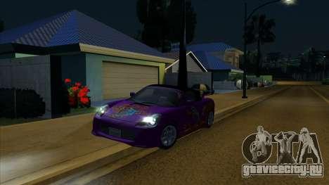 2004 Toyota MR-S Mk.III для GTA San Andreas вид снизу