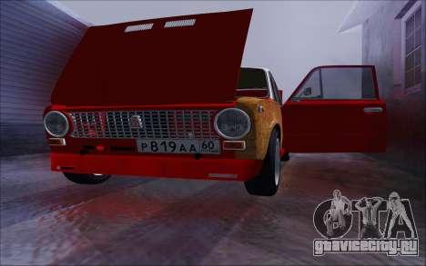 ВАЗ 2101 GVR V2 для GTA San Andreas вид изнутри
