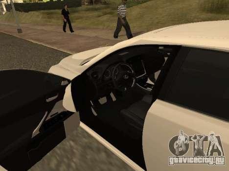 Lexus IS F Armenian для GTA San Andreas вид сверху