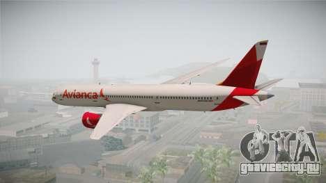 Boeing 787 Avianca для GTA San Andreas вид слева