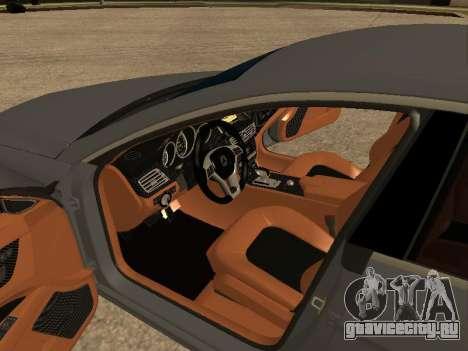 Mercedes-Benz CLS 63 AMG Armenian для GTA San Andreas вид изнутри
