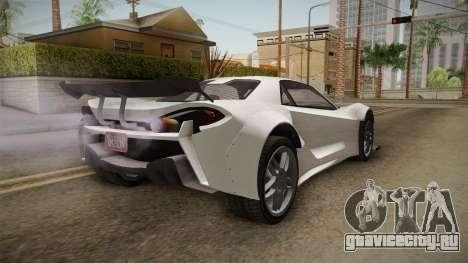 GTA 5 Progen Itali GTB Custom IVF для GTA San Andreas вид справа