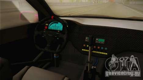Mitsubishi Lancer Evo IX Oumae Kumiko Itasha для GTA San Andreas вид изнутри
