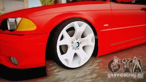 BMW 3 Series E46 CamberKinG для GTA San Andreas вид сзади
